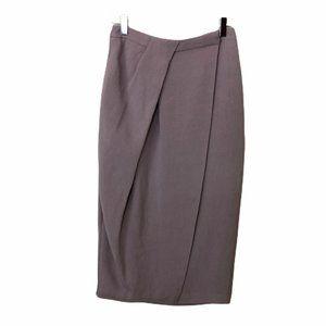 Diane Von Furstenberg Lilac Wrap Tulip Sik Skirt